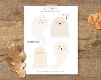 Printable ghost banner - ghost garland - Digital Download banner - DIY Banner - instant download