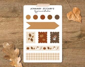 Planner sticker sheet ⨯ planner stickers ⨯ autumn stickers ⨯ cottage core ⨯ Joannie Studio