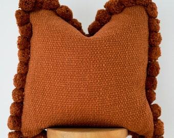 Handwoven Boho Pillow Cover: Autumn