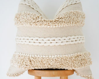Handwoven Boho Pillow Cover: Indie