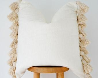 Handwoven Boho Pillow Cover: Elaine