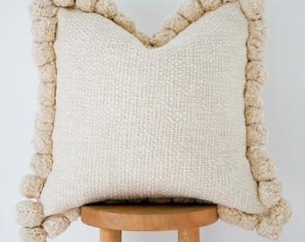 Handwoven Boho Pillow Cover: Willow