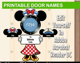 photograph relating to Disney Cruise Door Decorations Printable called PRINTABLE Disney Cruise Stateroom Doorway Reputation Signs or symptoms Do-it-yourself Print