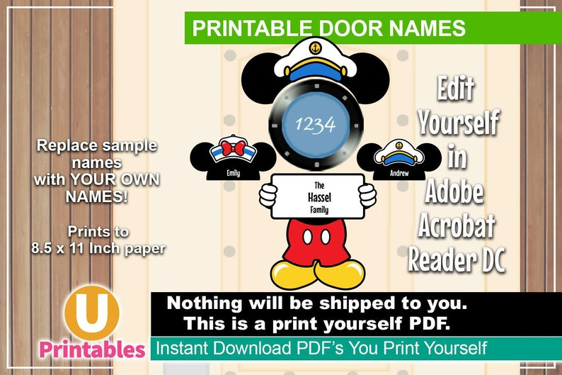 photo about Disney Cruise Door Decorations Printable known as PRINTABLE Disney Cruise Stateroom Doorway Popularity Signs and symptoms - Do it yourself Print By yourself Increase Your Private Magnets - Mickey Cruise Doorway Decorations Captain Sailor