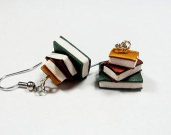 31ae5a3d29731 Book earrings | Etsy