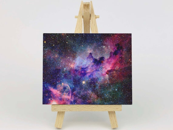 BLUE PURPLE NEBULAE STARS GALAXY SPACE CANVAS PRINT WALL ART PICTURE PHOTO