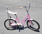 Vintage 1970 39 s Schwinn Lil Chik Child Girls Bicycle, Pink, Banana Seat, Stingray Style.