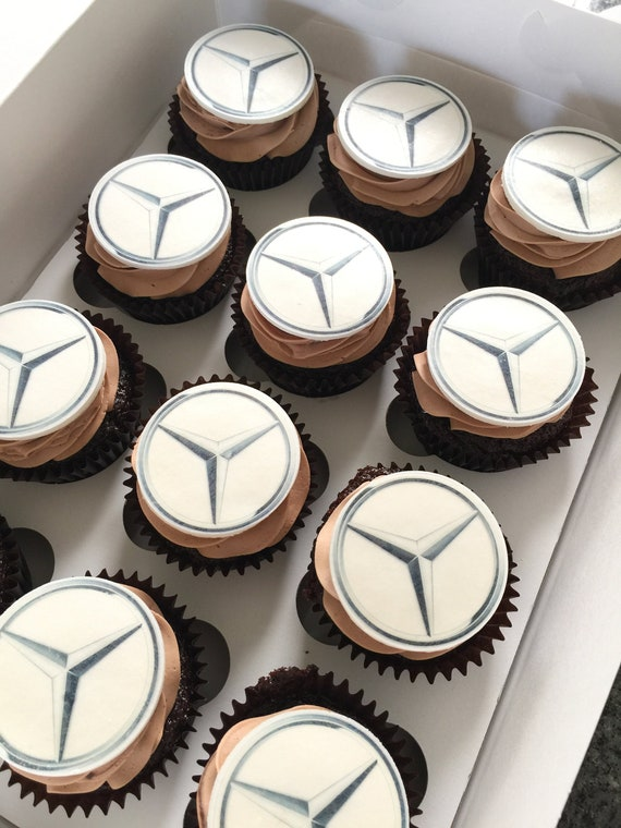Designer Logo Comestible Cupcake Toppers TRANCHE PAPIER