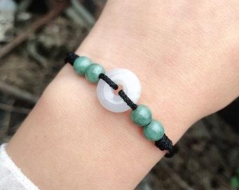 red string adjustable best friends personalized gift for her mom lucky jadeite gemstone women green jade bracelet black genuine jade beads