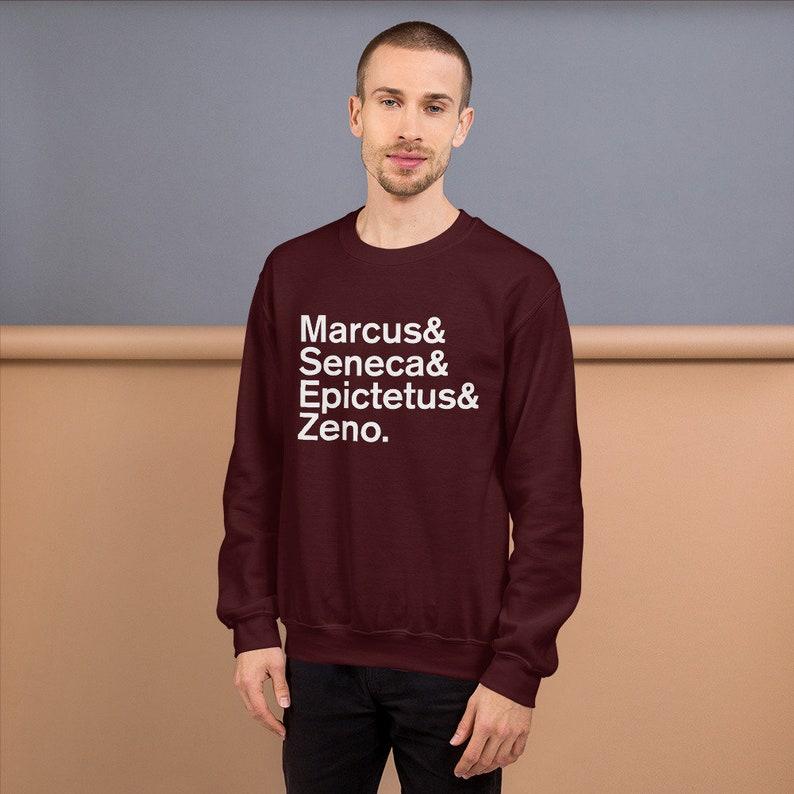Minimal Stoic Philosophers Long-Sleeve Mens Sweatshirt image 0