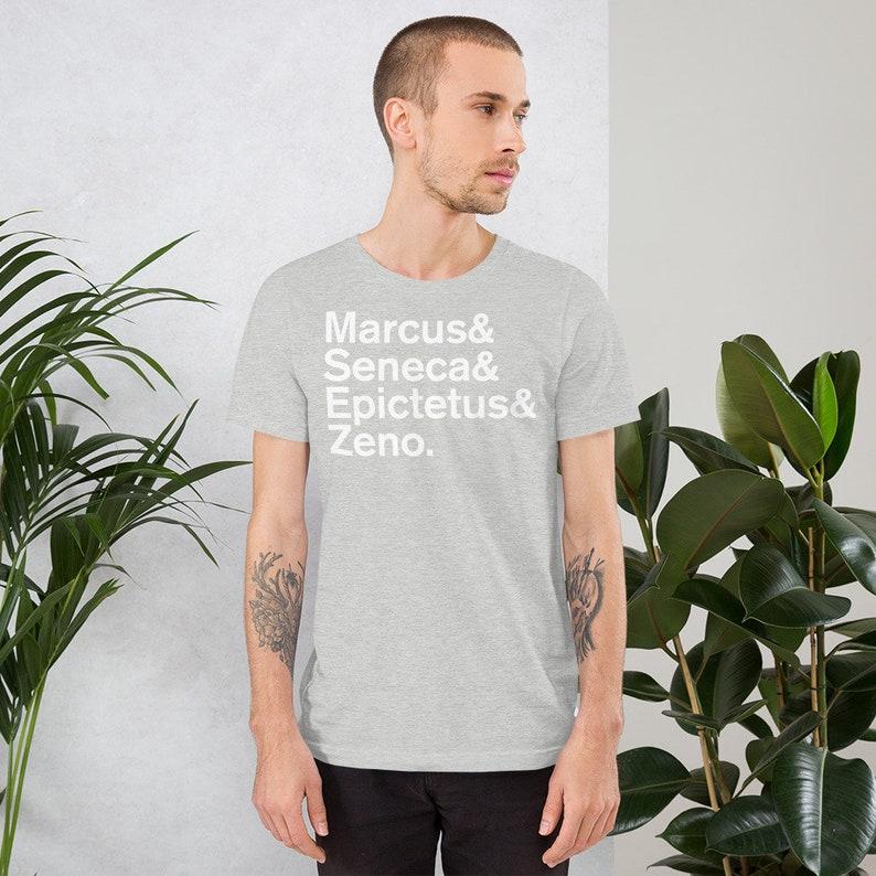 Minimal Stoic Philosophers Short-Sleeve Mens T-Shirt image 0