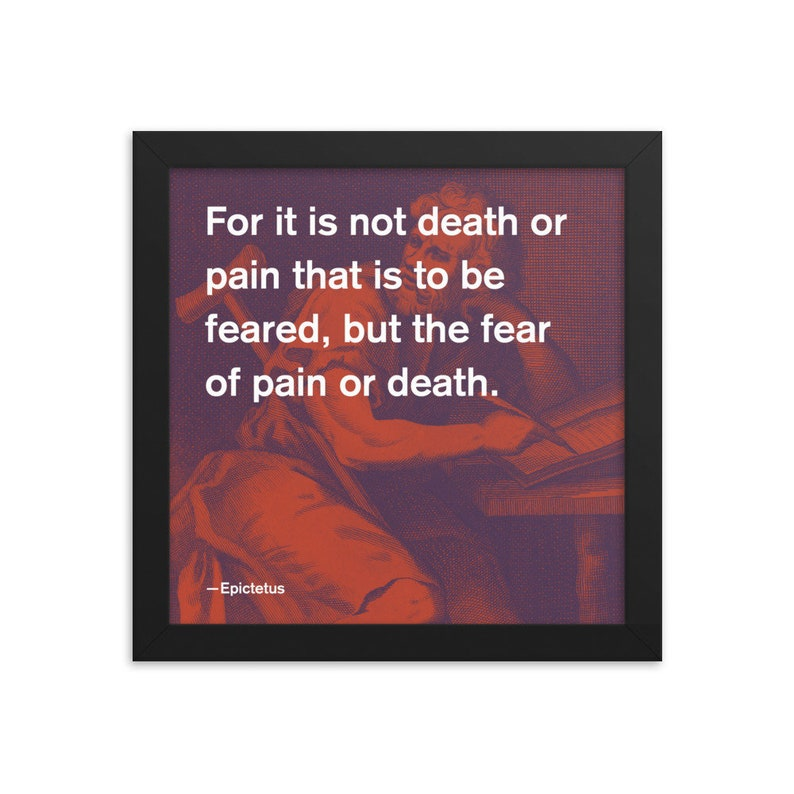Epictetus Stoic Quote 3C 10x10 Framed Poster image 0
