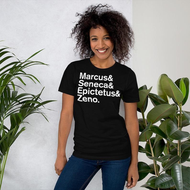 Minimal Stoic Philosophers Short-Sleeve Womens T-Shirt image 0
