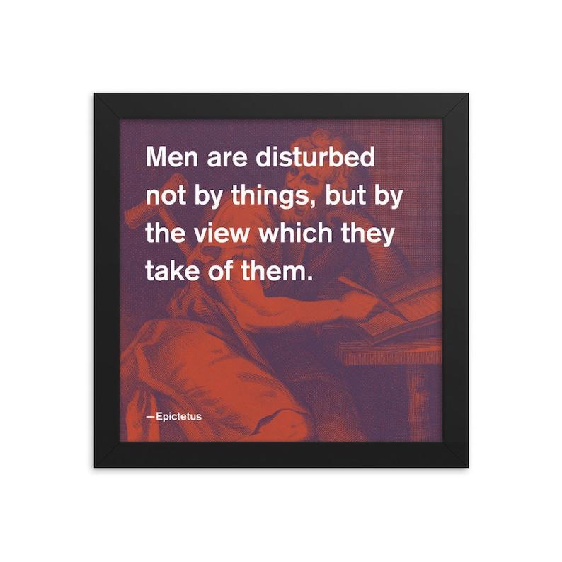 Epictetus Stoic Quote 4C 10x10 Framed Poster image 0
