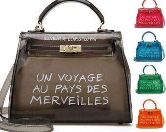 24edd0eb3301 Clear Transparent PVC Shoulder Bags Women Candy Color Women Jelly Bags Purse  Solid Color Handbags sac a main femme Crossbody Bag