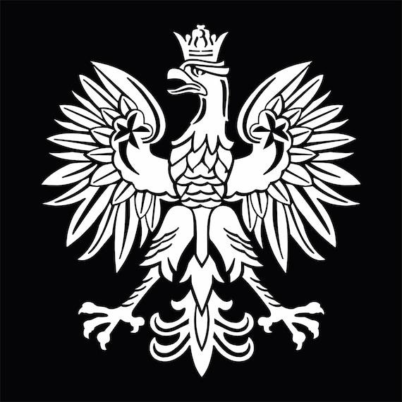 Map Coat of arms of Poland Decal Sticker Polska Eagle Herb Polski no bkgrd
