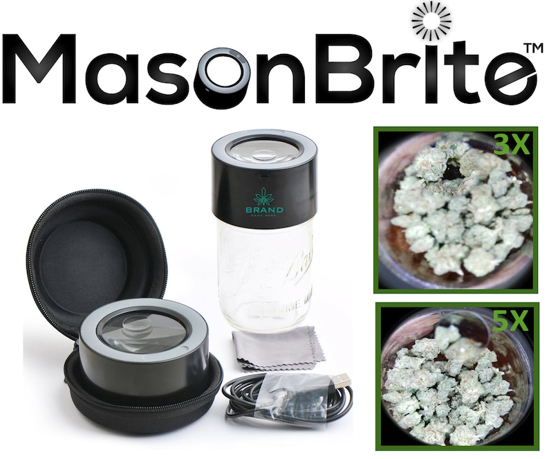 MasonBrite™  World's Only Stash Jar Lid with LEDs image 0