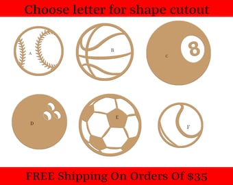 Bowling Ball Shape- Large /& Small Pick Size Unfinished Cutout Shapes Crafting Bowling Ball Sport Hobby *2-24 SO-0295