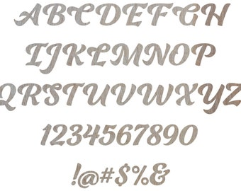 Single Wooden Letter Fonts - Unfinished Birch Plywood 2-30 inches - Ganche Font - Decorative Craft Monogram, Home Decor, DIY Crafting