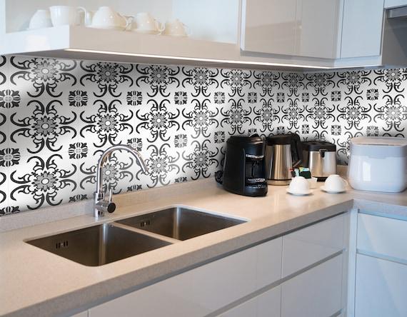 White Azulejos Kitchen Tiles Kitchen Splashback Eclectic Etsy