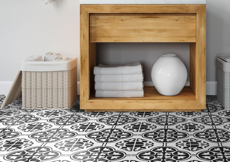 Black provence vinyl floor makeover sticker  Decals  image 0