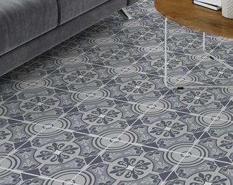 Moroccan tile floor vinyl decal | Symmetry | Eclectic | vinyl floor tile sticker | Carreaux | Vinyl tile sticker #25FS