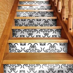 Grey starry stair strip sticker Agadir in Grey Peel /& Stick Stair Decals Stairs Decor 48 long #41SR