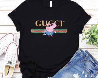 55767e94143dbe Luxury Gucci Shirt   Inspired Gucci Sweatshirt   Gucci long sleeve tshirt   thug  life George peppa pig Gucci Womens tshirts Gucci kid Shirts