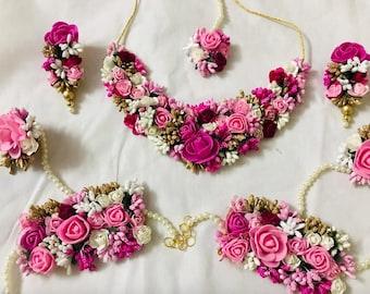 Flower Jewelry For Mehndi Etsy