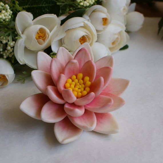 water Lily flower lotus silicone mold silicone mould soap mold candle mold