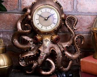 Bestselling !! Octopus Steampunk Clock