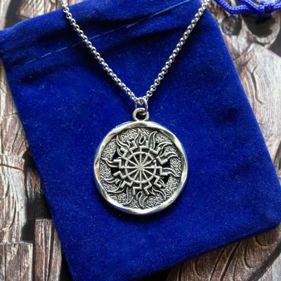 Odin on Sleipnir Viking Norse God Horse Steed Pendant Necklace with Gift Pouch