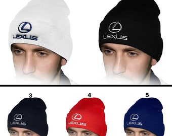 23790684ef4 Lexus Beanie Hat EMBROIDERED Logo Car Auto Hat Winter Knit Baseball Cap  Mens Womens Friend Ski Gift Accessories T Shirt Black White Blue Red