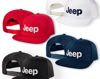 a9f7e4904b871 JEEP 5 Panel Baseball Cap EMBROIDERED Logo Snapback Hip Hop Car Auto Hat  Mens Womens Friend Gift Accessories T Shirt White Black Blue Red