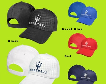 3547cf2c976 Maserati CARBON Baseball Cap EMBROIDERED Logo Car Auto Hat Mens Womens Gift  Accessories Adjustable T Shirt Friend Black White Blue Red Sport