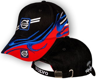 6a88fd0795edf Volvo Baseball Cap 3D EMBROIDERED Logo Black Blue Red Car Auto Hat Mens  Womens Gift Accessories Adjustable T Shirt Friend Christmas Father