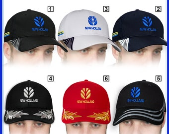 4d1f8901 New Holland Baseball Cap 3D EMBROIDERED Logo Tractor Agriculture Farmer Hat  Mens Womens Gift Accessories Adjustable T Shirt Friend Father