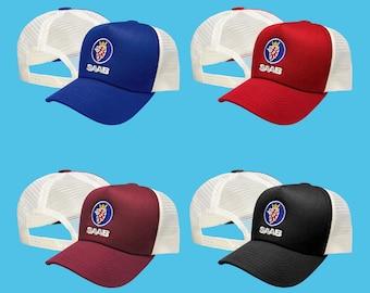 16060811210f7 SAAB Trucker Mesh Baseball Cap EMBROIDERED Logo Car Auto Hat Mens Womens  Gift Accessories Adjustable T Shirt Friend Black Blue Red