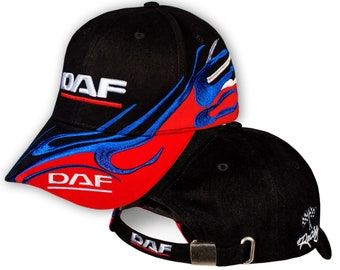 5115bcbd DAF Baseball Cap 3D EMBROIDERED Logo Black Blue Red Truck Auto Hat Mens  Womens Gift Accessories Adjustable T Shirt Friend Christmas Fathers