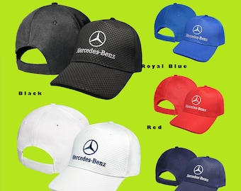17901392e4346 Mercedes Benz CARBON Baseball Cap EMBROIDERED Logo Car Auto Hat Mens Womens  Gift Accessories Adjustable T Shirt Friend Black White Blue Red