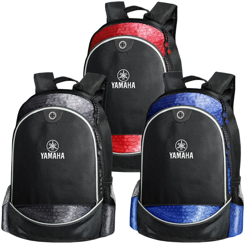 Yamaha CARBON Backpack EMBROIDERED Logo Motorcycle Bike Bag Accessories Mens Women T Shirt Gift Friend Black Blue Red School College Sport
