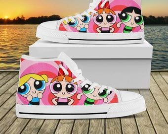 acf6877a06d84 Powerpuff girl shoes | Etsy