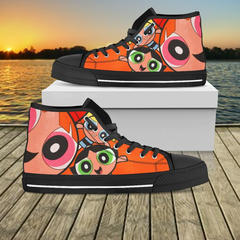 b0ee48dfc25f7 The Powerpuff Girls High Top, The Powerpuff Custom Shoes, Cartoon Network  Custom Shoes, Gift For Her, Gift For Men