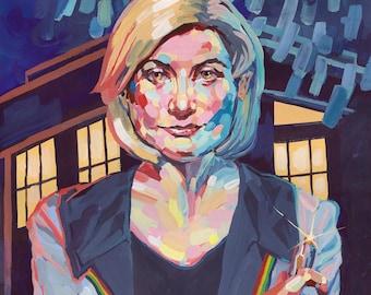 Thirteenth Doctor - Art Print - Tempera Painting