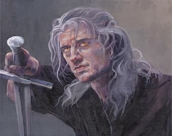 Geralt Painting Etsy