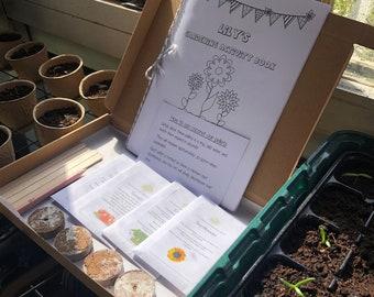 Letterbox Gift   Gardening for Children   Garden Activity Letterbox Gift   Seeds and A5 Activity Book   Personalised