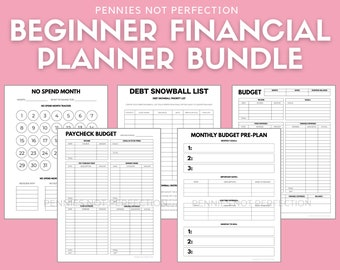 Budget Planner Printable Bundle    Financial Printable Bundle   Budgeting, Savings, Debt Payoff, & More