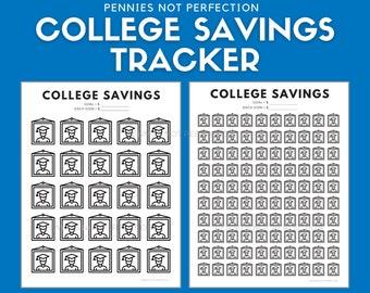 College Savings Tracker   University College Tuition Savings Chart Printable