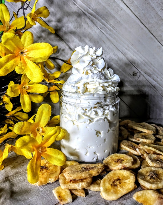 Banana Lotion Homemade Body Lotion Homemade Hand Body Lotion  Homemade Body Cream Hand Cream Silky Body Hand Cream  Mom Gift