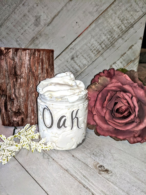 Oak for men homemade lotion moisturizer Shea butter